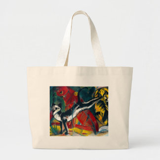cats painting large tote bag