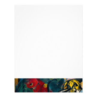 cats painting letterhead