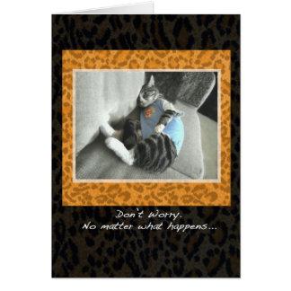 Cat's Pajamas Cheer up card