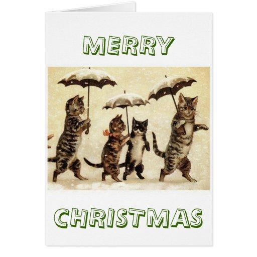 Cats parade greeting card