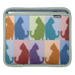Cats Pastel Silhouette iPad Sleeves