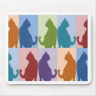Cats Pastel Silhouette Mouse Pad