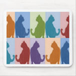 Cats Pastel Silhouette Mousepad