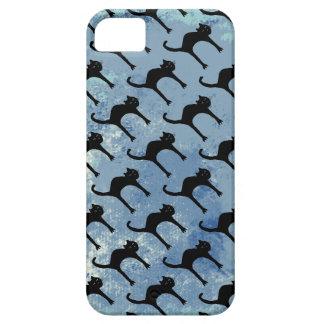 cats pattern / blue iPhone SE/5/5s case
