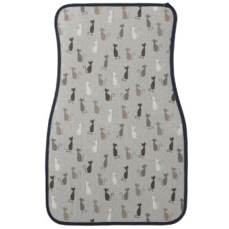 Cats pattern car floor mat