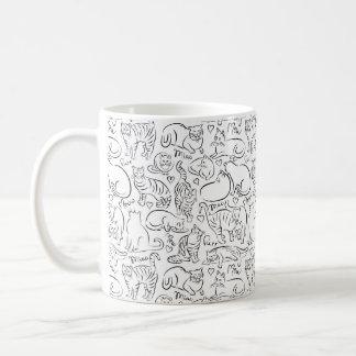 Cats Pattern Coffee Mug