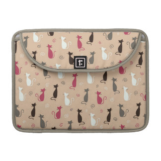 cats Pattern Pink Sleeves For MacBook Pro