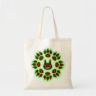 Cats Paw Circle Trick or Treat tote