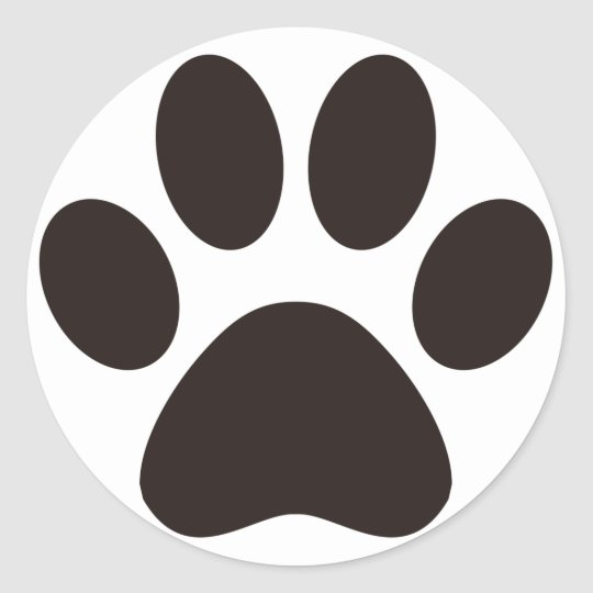 CAT'S_PAW CLASSIC ROUND STICKER