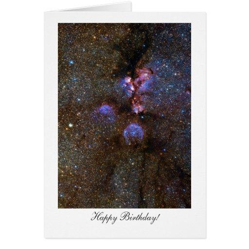 Cats Paw Nebula - Happy Birthday Greeting Cards