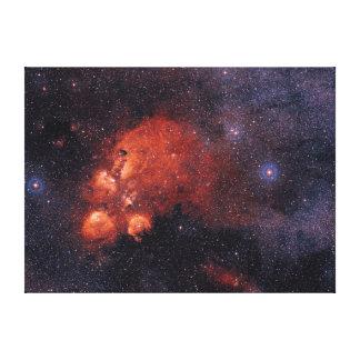 Cat's Paw Nebula NGC 6334 Bear Claw Gum 64 Canvas Print