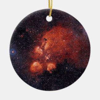 Cat's Paw Nebula NGC 6334 Bear Claw Gum 64 Ceramic Ornament