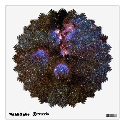 Cats Paw Nebula NGC 6334, Scorpius Room Sticker