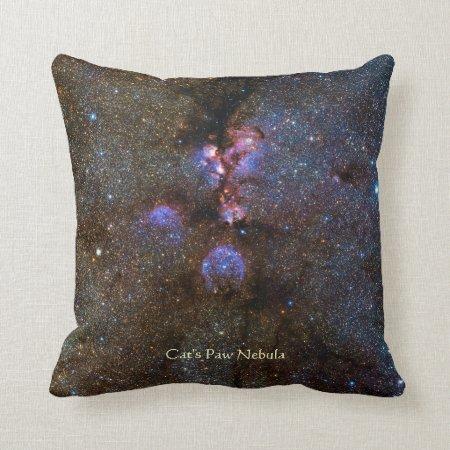 Cats Paw Nebula - NGC 6334 Throw Pillow
