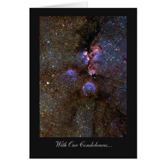 Cat's Paw Nebula - With Our Condolences Card