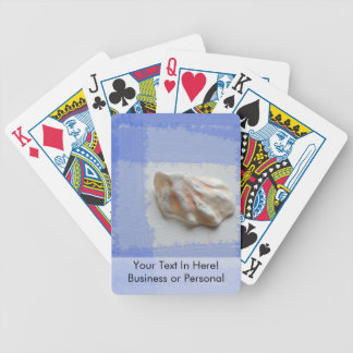 cats paw shell with blue streaks bicycle playing cards