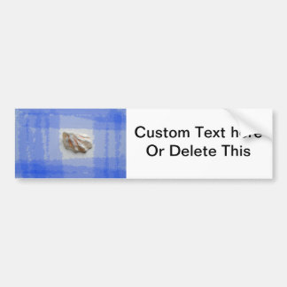 cats paw shell with blue streaks bumper stickers