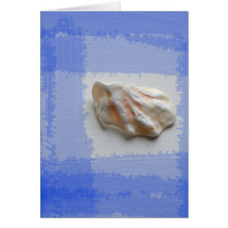 cats paw shell with blue streaks card