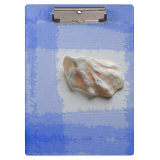 cats paw shell with blue streaks clipboard