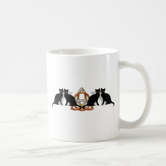 Cats Pentgagram Flame Triquetra Coffee Mug