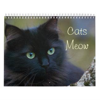 Cats Pets Meow Cute Faces Custom Printed Calendar