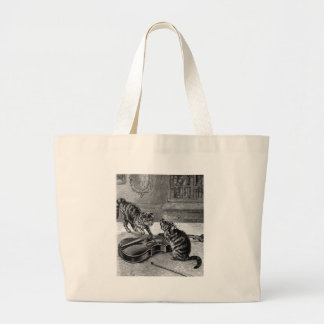 Cats Play Tote Bags