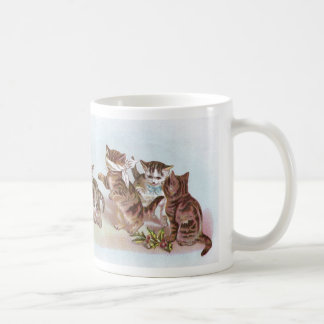 Cats Play Blind Man's Bluff Victorian Trade Card Coffee Mug