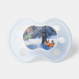 Cats Play Hide And Seek In The Winter Forest BooginHead Pacifier