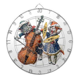 Cats Playing Christmas Music in the Snow Dartboard