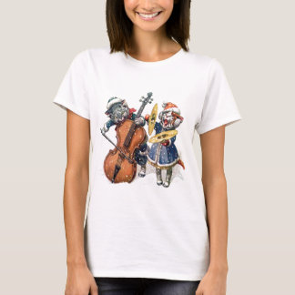 Cats Playing Christmas Music in the Snow T-Shirt