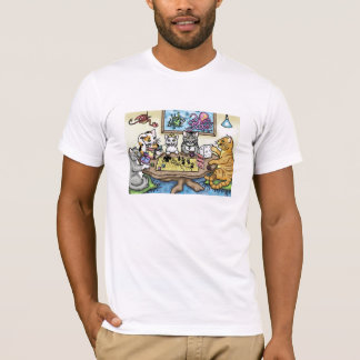 Cats Playing Pathfinder by Carrie Michael T-Shirt