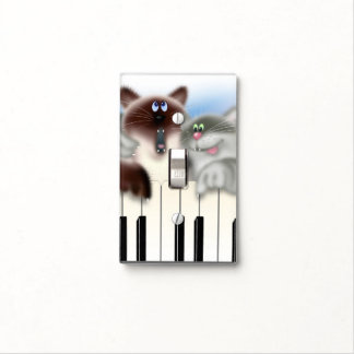 Cats Playing Piano Light Switch Plates