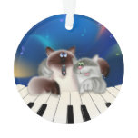 Cats Playing Piano Ornament