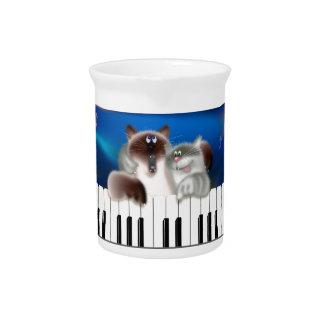 Cats Playing Piano Pitchers