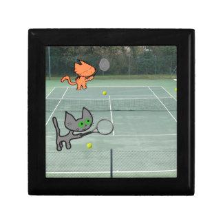 Cats Playing Tennis Jewelry Box