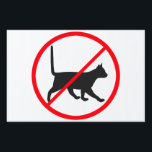 "Cats Prohibited! Yard Sign<br><div class=""desc"">have enough of your neighbours cats using your garden as toilet? don&#39;t like to clean up after kitties that drop catpoop in your kids sandbox?</div>"