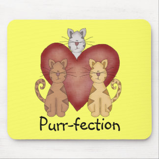 Cats Purr-fection Tshirts and Gifts Mouse Pad