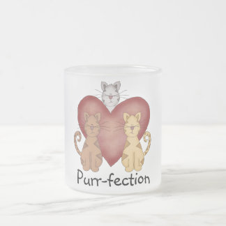 Cats Purr-fection Tshirts and Gifts 10 Oz Frosted Glass Coffee Mug