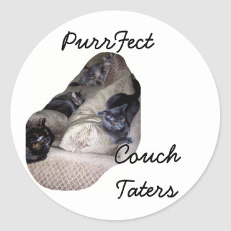 cats: Purrfect Couch Potatoes sticker