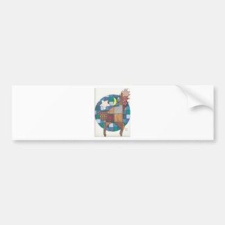 Cats - Quilted Bumper Sticker