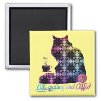 Cats, Quilting and Coffee Magnet