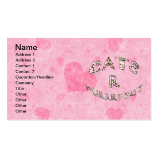 CATS R PURRRFECT BUSINESS CARD