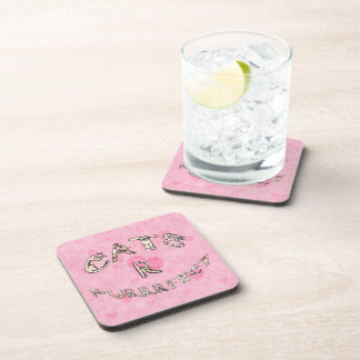 CATS R PURRRFECT DRINK COASTER