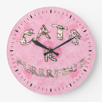 CATS R PURRRFECT LARGE CLOCK
