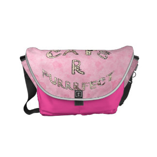 CATS R PURRRFECT SMALL MESSENGER BAG