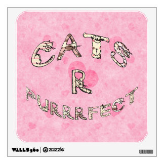 CATS R PURRRFECT WALL DECAL