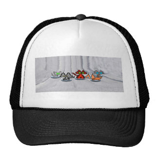 Cats Race In Snow Hat