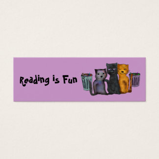 Cats Reading is Fun Bookmarks Mini Business Card
