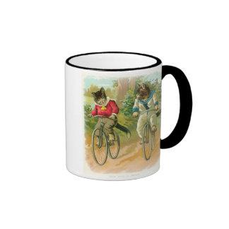 Cats Riding Bikes Coffee Mugs