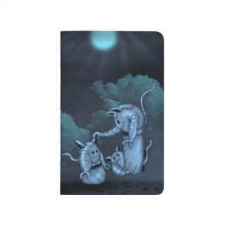 CATS ROBOTS ALIENS CARTOON Pocket Journal